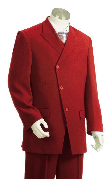 Mens red Color Zoot Suit