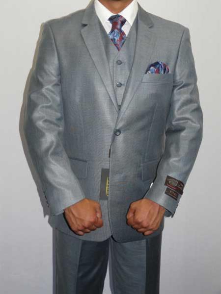 Notch Lapel Ocean Blue Suit