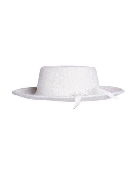 Off White Wide Brim Fedora 100% Wool Zoot Hat 3d7a657353f