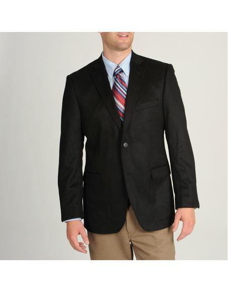 ID#DB18782  1 Button Black  Cashmere Best Cheap Blazer For Affordable Cheap Priced Unique Fancy For Men Available Big Sizes on sale Men Affordable Sport Coats Sale