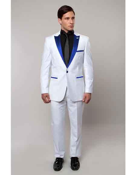 One Button Royal Blue Suit