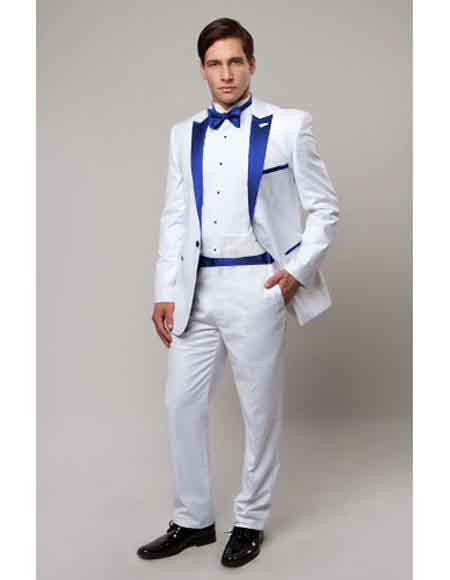 One Button White Suit