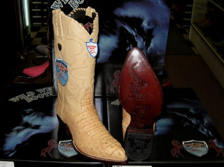 Wild West Ivory Tan ~ Beige Genuine crocodile skin ~ Gator skin western Dress Cowboy Boot Cheap Priced For Sale Online