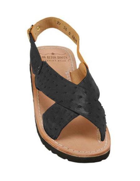 Ostrich Exotic Skin Sandals