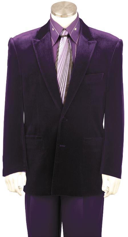 Purple-Color-Velvet-Suit