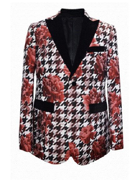 Red~White Cheap Fashion  Big and Tall Large Man ~ Plus Size Plus Size Sport Coats Jackets Blazer ~ Suit Jacket