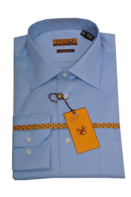 Regular Cuff Blue Color Shirt