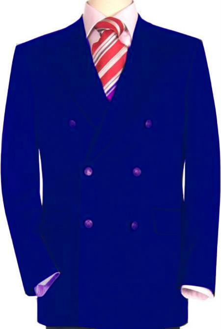 Royal Blue Double Breasted Sportcoat