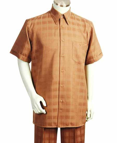 Rust Color Casual Walking Suit