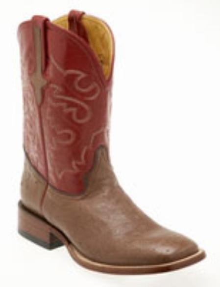 Ferrini Smooth Ostrich S-Toe Boots