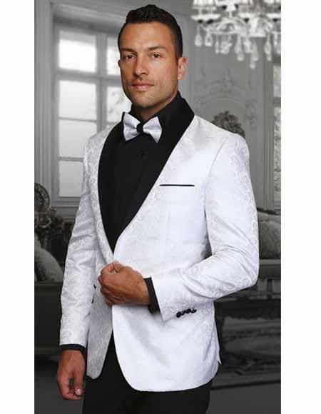 Shawl Lapel White Jacket