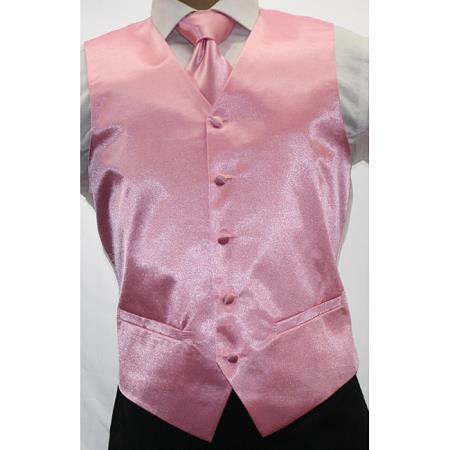 Shiny Pink 3 Piece Vest