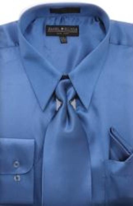Shiny Royal Blue Shirt Tie