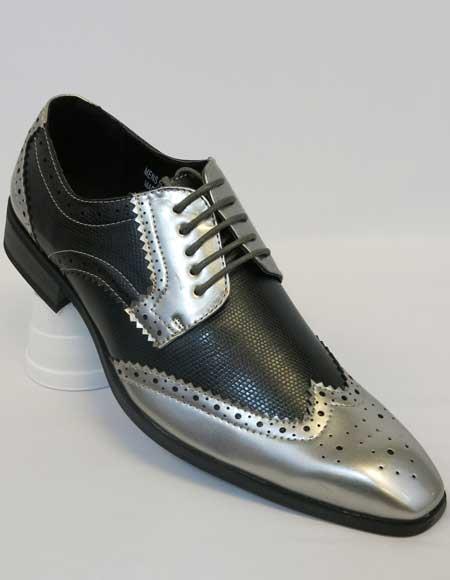 Sliver Color Spectator Shoes