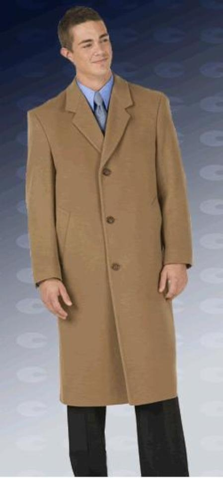 Men's Vintage Style Coats and Jackets Sentry8811 45 single breasted classic model features button through front notch Collared Overcoat $250.00 AT vintagedancer.com