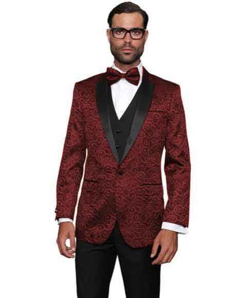 Maroon Color Suit