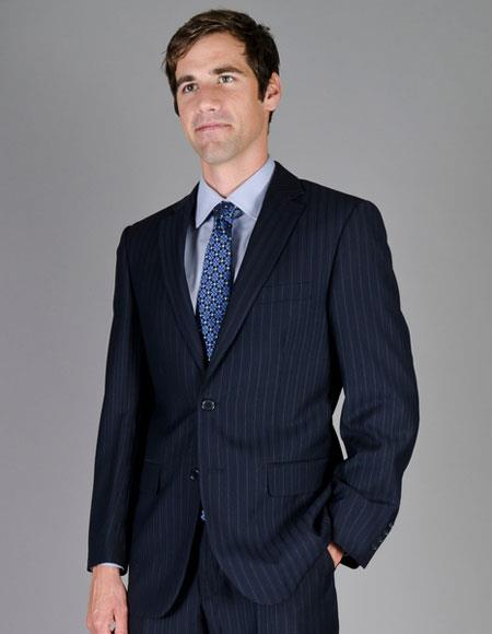 Single Breasted Navy Color Suits