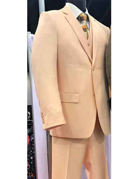 Single Breasted Peach Color Suit