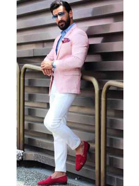 Men's Pink Slim Fit  Best Cheap Blazer For Affordable Cheap Priced Unique Fancy For Men Available Big Sizes on sale Men Affordable Sport Coats Sale