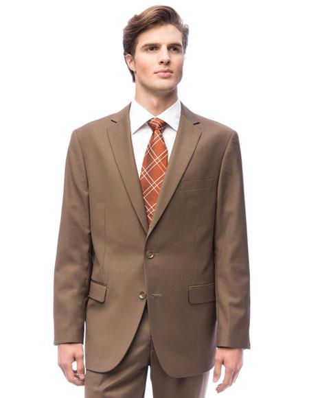 Single Breasted Taupe Color Suits