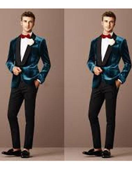 Men Floral Glitter Sequin Shawl Lapel Suit Jacket Velvet Blazer Wedding Prom