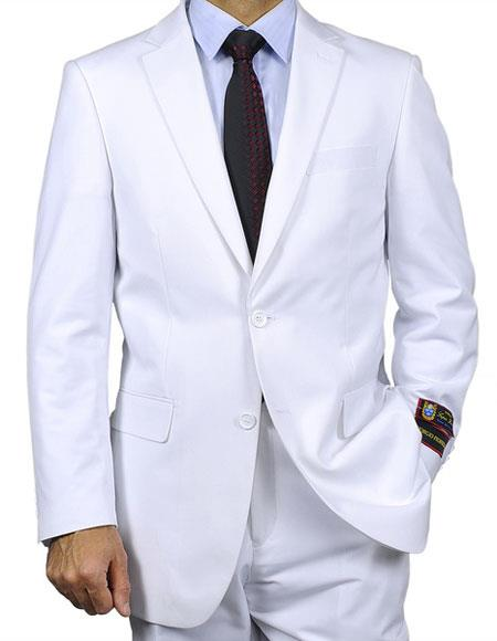 Single Breasted White Suits