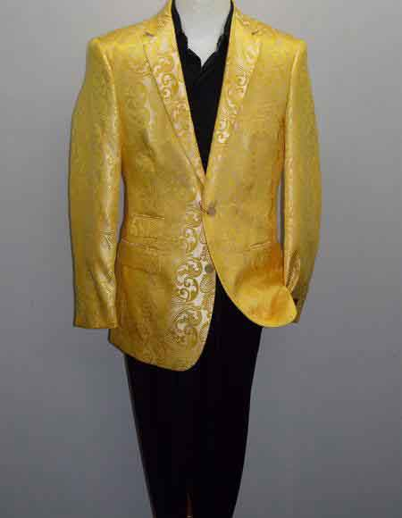Single Breasted Yellow Color Blazer