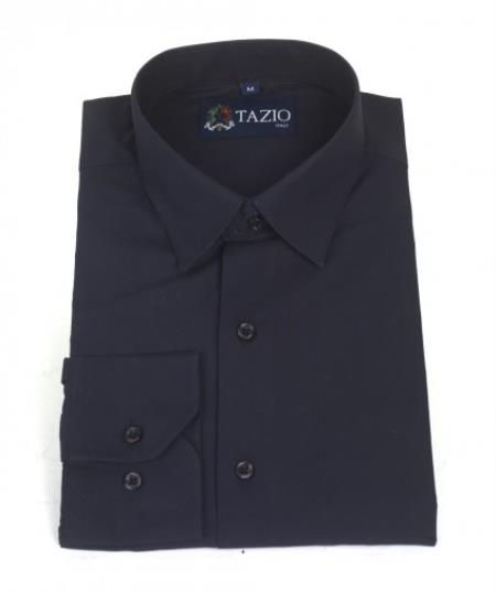 Dress Cheap Fashion Clearance Shirt Sale Online For Men Slim Fit Navy