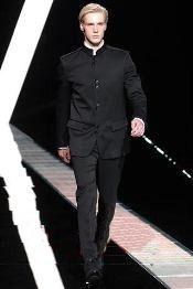 Mandarin Collar Black Suits