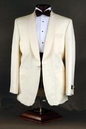 One Button Ivory Color Suit