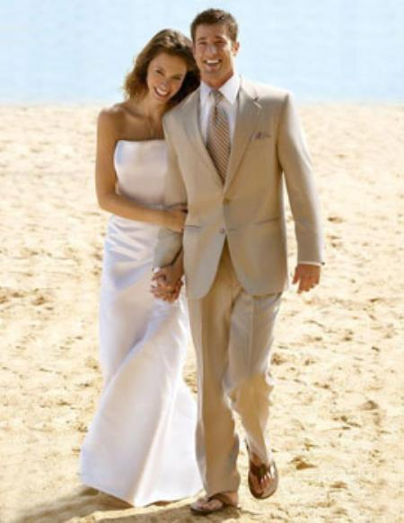 Tan Two Ons Wedding Suit 5854 Jpg