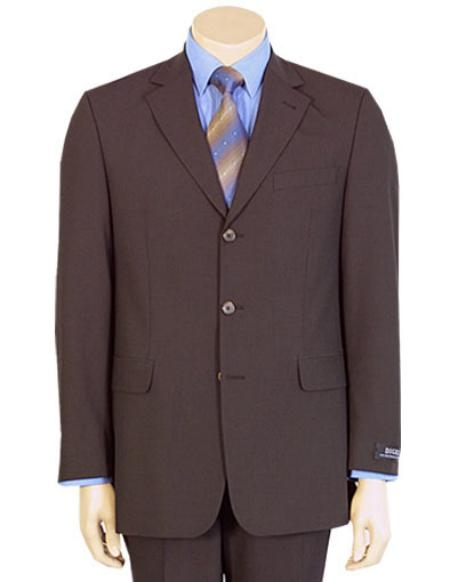 Modern Coco Chocolate brown Pure year round Wool fabric 2/Three buttons Suit