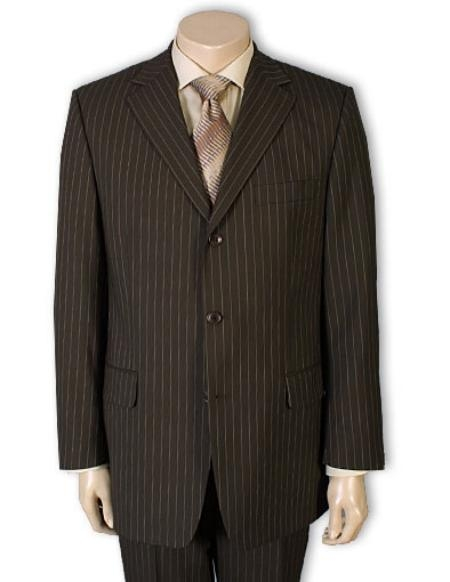 Three Button Chocolate Color Suit