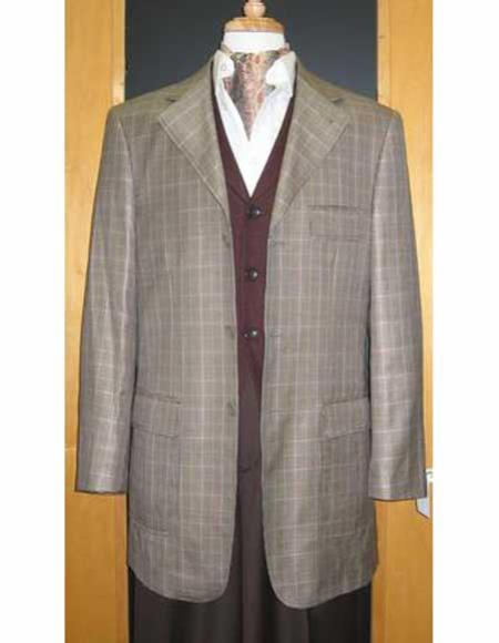 Testardi Brand 95% Wool,5% Cashmere 3 Button Grey Check Pattern Jacket Best Cheap Blazer For Affordable Cheap Priced Unique Fancy For Men Available Big Sizes on sale Men Affordable Sport Coats Sale