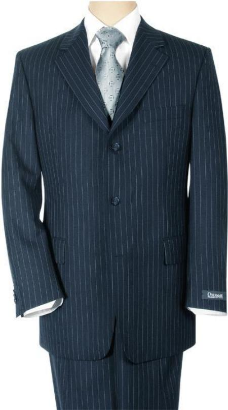 1920s Mens Suits | Gatsby, Gangster, Peaky Blinders Conservative navy blue colored Pinstripe crafted professionally italian fabric Superior fabric 140s Wool fabric $200.00 AT vintagedancer.com