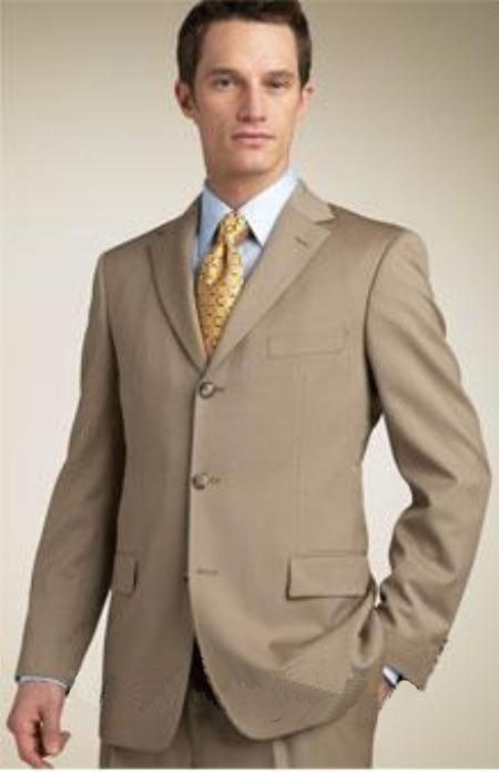 Tan Button Suit