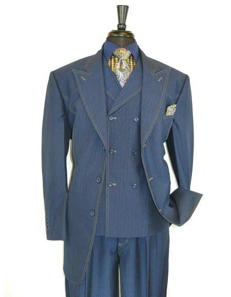 Blue Traditional Suit
