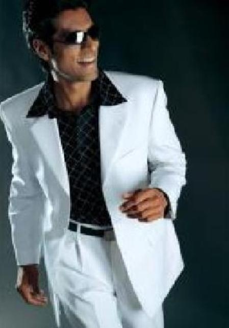 White Suit High Twist All Year Around Three buttons Casual S