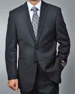 Black Pinstripe 2 Button Suit