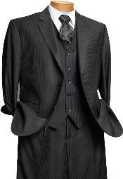 Dark Black Italian Design Suit