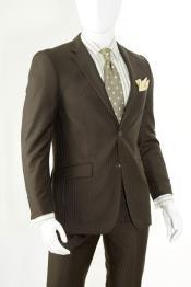 Men Brown Slim Fit Suits