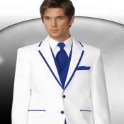 Royal Blue and White Tuxedo
