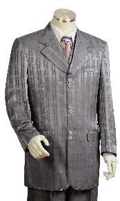 Mens Grey Fashion Suit