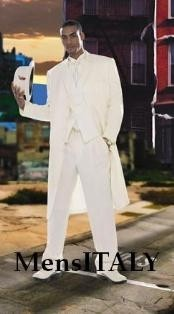 Mens Off White Zoot Suit