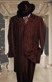 Mens Shiny Brown Zoot Suits