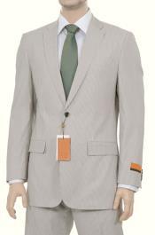 Mens Tan Cotton Suit
