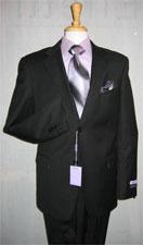 Mens Two Buttons Black Suit