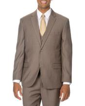 Mens Two Buttons Suits Tan