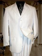 Mens Two Buttons White Suit