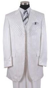 Shiny 3 Piece White Suits